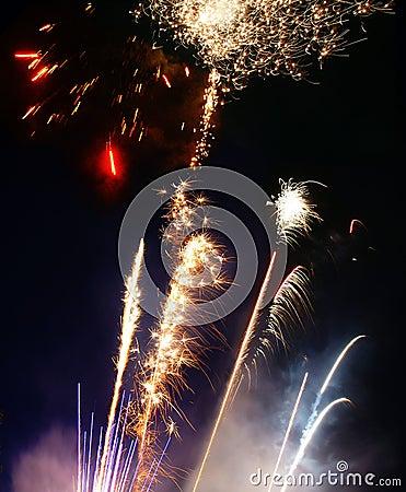 Lauching-Feuerwerke