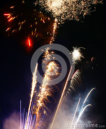 Lauching fireworks