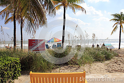 Autumn Day Lauderdale by the Sea, Florida Editorial Photography