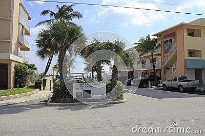 Datura Avenue Portal, Lauderdale By The Sea, Florida Editorial Image