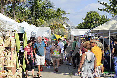 Craft Festival in Lauderdale By the Sea, Florida Editorial Stock Image