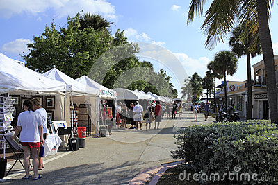 Lauderdale By the Sea, Florida Craft Festival Editorial Photo