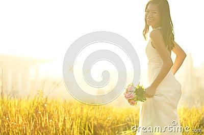 Laufende Braut