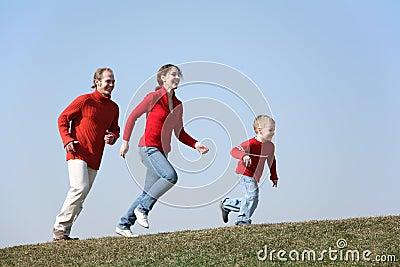 Laufende Familie