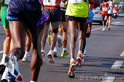 Laufende Rennläufer
