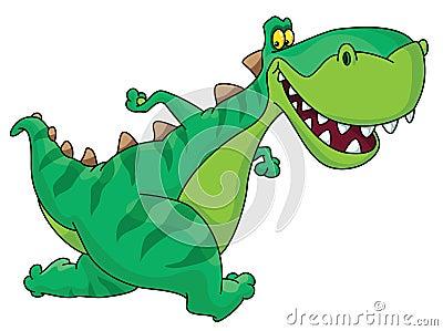 Laufender Dinosaurier
