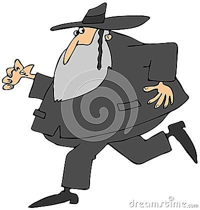 Laufender Rabbiner
