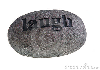 Laugh engraved on stone