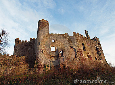 Laugharne Castle, Camarthenshire Wales Stock Photo - Image: 12862730