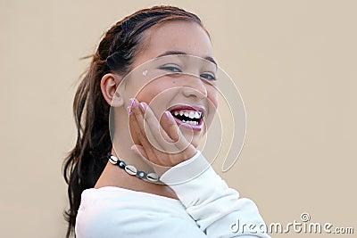 Laughing asian girl