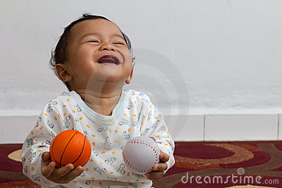 Laughing baby.