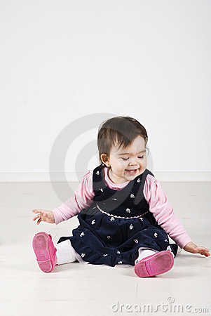 Free Laughing Baby Girl Stock Photos - 14077583