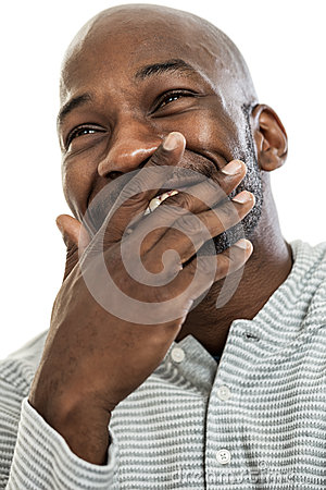 Laughing Black Man Portrait