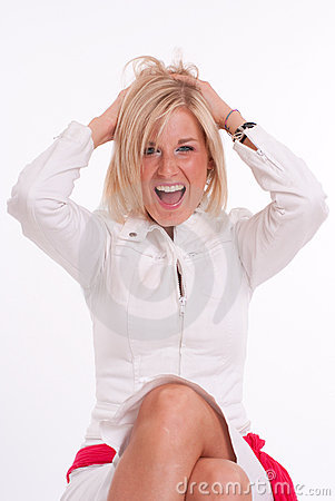 Laughing blond girl