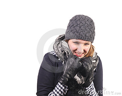 Laughing in the cold