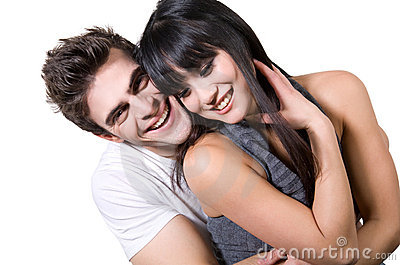Laughing Couple (with clipping path)