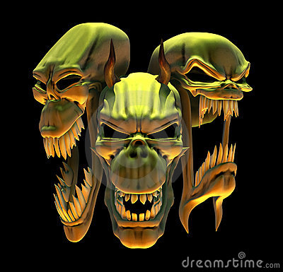 Laughing Demon Skulls