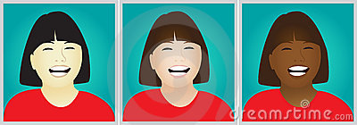 Laughing girls clipart