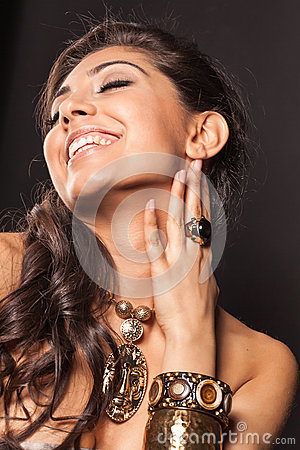 Laughing gorgeous woman