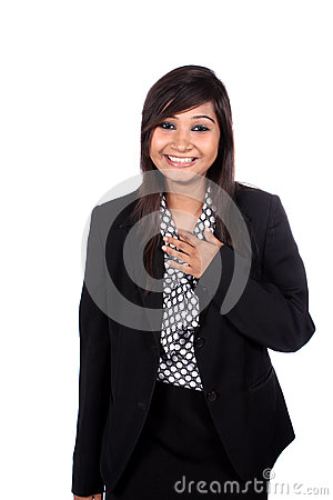 Laughing Indian Busineswoman