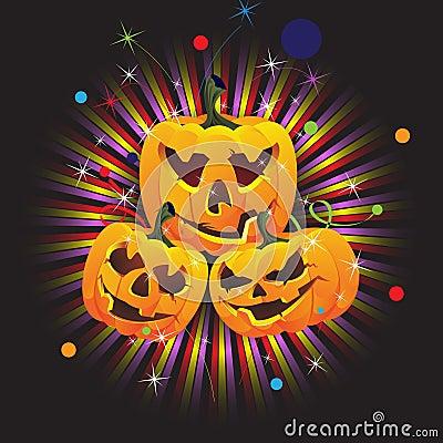 Laughing Jack O lanterns