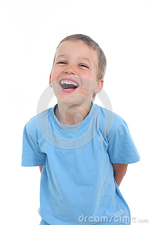 Free Laughing Little Boy Stock Photo - 50068400