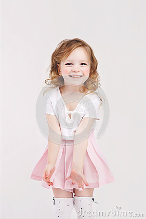 Free Laughing Little Girl Stock Photo - 69576350