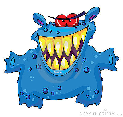 Laughing Monster Royalty Free Stock Photo - Image: 14723795