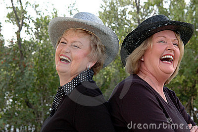 Laughing older women