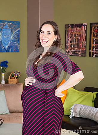 Free Laughing Pregnant Woman Royalty Free Stock Photos - 48608378
