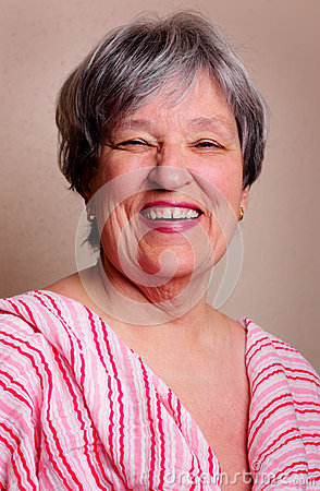 Laughing Senior Lady