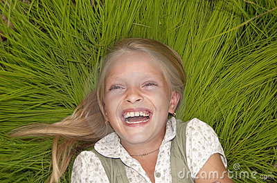 Laughing small girl