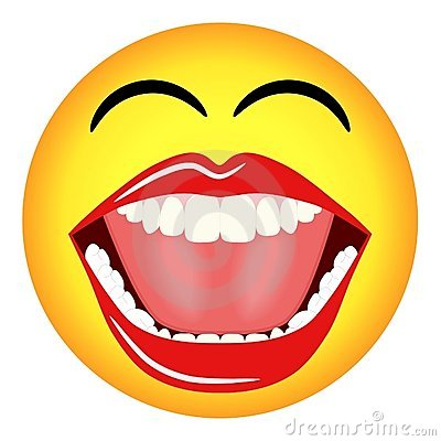 smiley face clip art black and white. laughing face clip art.