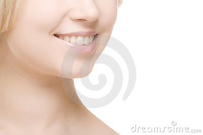 Laughing woman smile