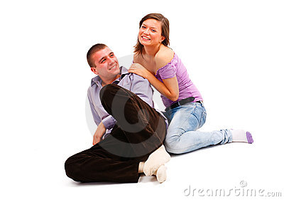 Laughing young couple