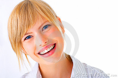 Laughing young female student