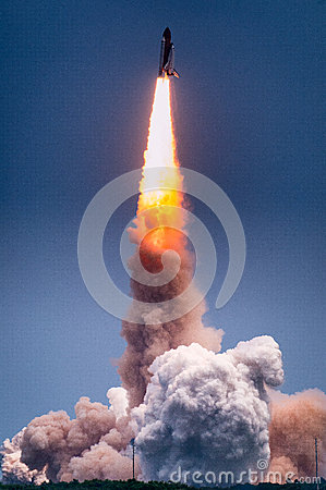 Free Launch Of Atlantis-STS-135 Stock Image - 34689481