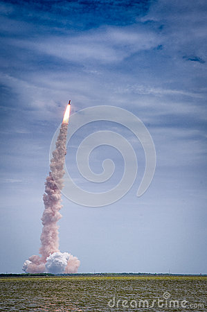 Free Launch Of Atlantis - STS-135 Stock Photography - 34713462