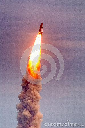 Free Launch Of Atlantis-STS-135 Royalty Free Stock Image - 42999626