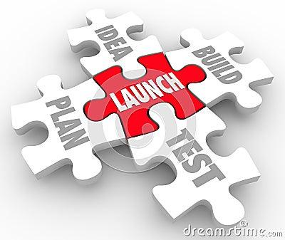 Launch Puzzle Pieces Idea Build Plan Test Starting New Business