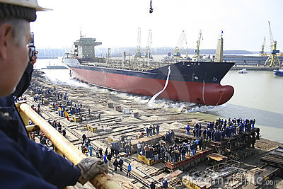 Launching Ceremony Of A Ship