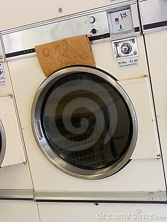 Free Laundromat Dryer Out Of Order Stock Photo - 737590