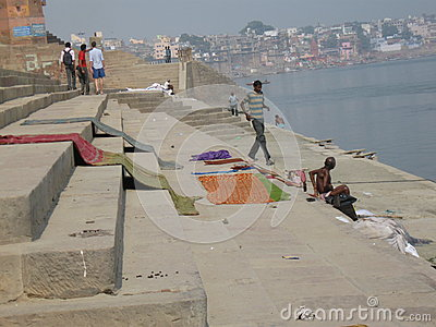 Laundry Assi Ghat Varanasi India