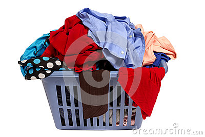 Laundry Basket Of Clothes