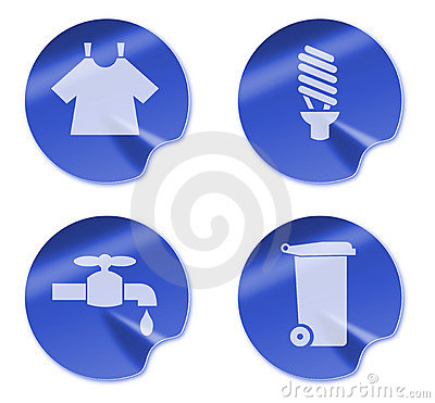 Laundry bulb tap garbage bin icon