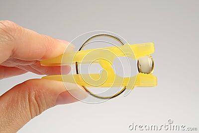 Laundry clip with a vitamin E