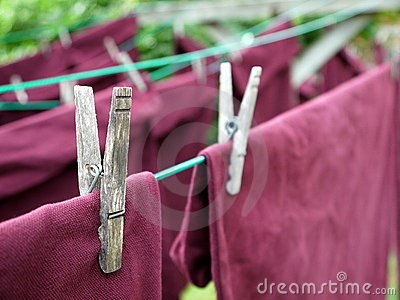 Laundry: clothes pin detail