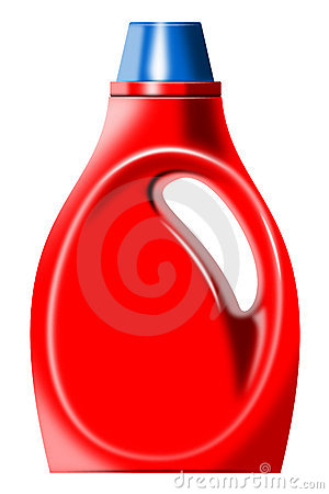 Laundry detergent bottle