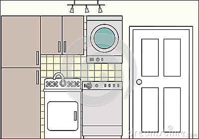 Laundry with Fixtures and Fittings
