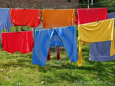 Laundry: multicolored clothes